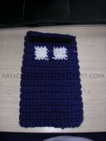 Crocheted TARDIS - WIP by PaisCharos