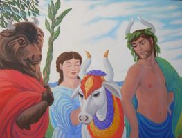 Ariadne and the Sacred Bulls by MariaAragon64