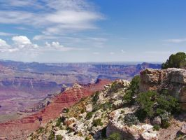 GRAND CANYON WITH BLUE SKIES by CorazondeDios