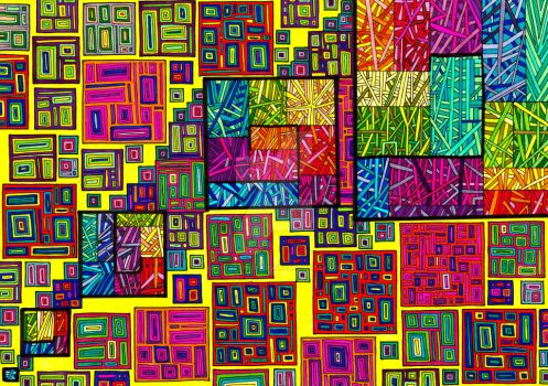 Psychedelic Squares 217 by CHoare