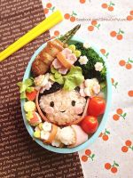 Chinese girl Bento Lunch box by loveewa