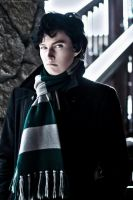 Sherlock as a Slytherin student by KyoyaKun