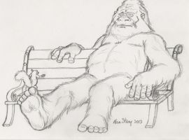 Bigfoot - Hospital sketch by Beishung