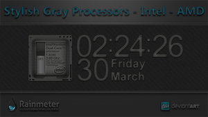 Stylish Gray Processors - Intel - AMD by WwGallery