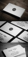Letter Style Business Card by vitalyvelygo