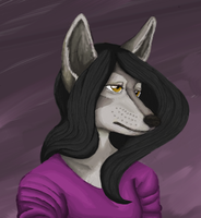 Coloring practice wolf girl by ThePsychoSloth
