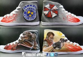 Resident Evil Shoes by VirulentApparel