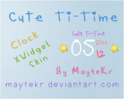 Cute Ti-Time for XWidget by MayteKr
