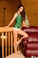 Green and White Lace by JasmineBelle