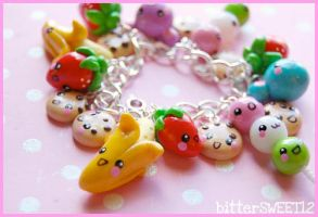 kawaii Friends Charm Bracelet1 by bitterSWEETones