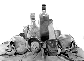 Still Life re-upload with better picture by McKravendrawings
