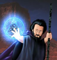 syccas-stock Warriors Contest Spell Caster by carol-colors