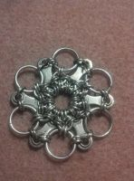 Bike Part Snowflake Chain Mail by FeMailleTurtle
