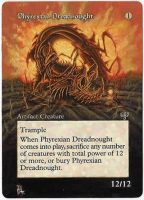 Magic Card Alteration: Phyrexian Dreadnought by Ondal-the-Fool