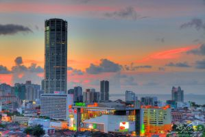 Sunset of October the third - Penang (alt) by fighteden