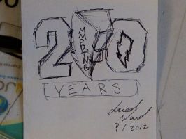 MMPR: The New Generation 20 Years Logo by Jred20