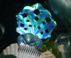 Nereids Treasure - handmade Haircomb by Ganjamira