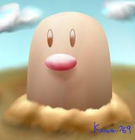 Pokemon - Diglett by kawaii769