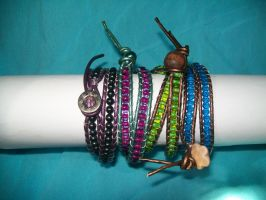 Leather wrap collection by BlueberryCrazy