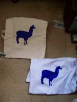 Blue Lama - Bag and T-shirt by supersmeg123