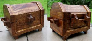 All Wood Treasure Chest by zimzim1066