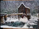 Watermill in winter by ErvinOgrasevic
