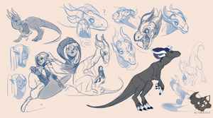 [C] Sketch Page for pickleweasel360 by aignavus