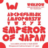 emperor of japan font by weknow by weknow