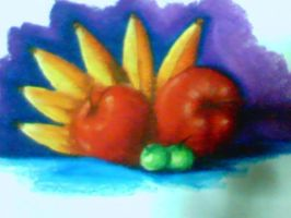 still life in oil pastel by idielastyr