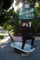 Joey B at Beverly Hills Hotel2 by Cyril-Helnwein