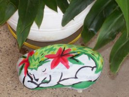 Stone Painting - Shaymin Sleep by Wolfgerlion