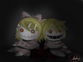 Rin and Len dolls by ChibiDoodlez