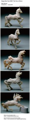 Year of Horse 2014!  Happy New Year!! by sculptor101