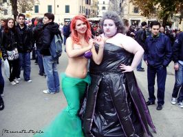 Little Mermaid and Ursula by StereoCatastrophe