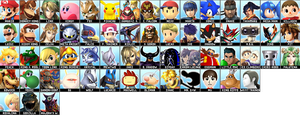 My Smash Bros. roster by Phosphorus-The-White