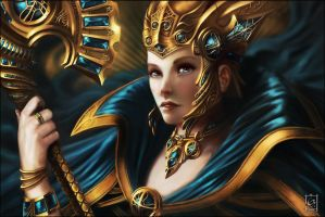 Gold and Sapphire by Emortal982