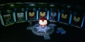 Tony Stark's Playroom Diorama Papercraft by suraj281191