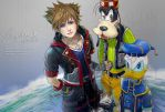 Kingdom Hearts - Sora Donald Goofy by pheonixefreet