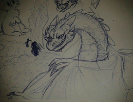 Smaug sketch by draggems
