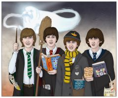 The Beatles at Hogwarts by Loony-Lucy