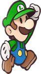 Luigi in Paper Mario: Sticker Star by PichuThePokemon