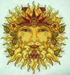 Sun God Cross-Stitch by HaleyGeorge