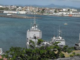 French navy base and FORT DE FRANCE city by A1Z2E3R