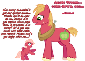 Upset Apple Cream by LudiculousPegasus
