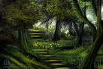 Dary Forest Speed Paint by VanillaDeonna