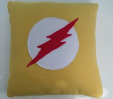 Kid Flash Pillow by nenfere