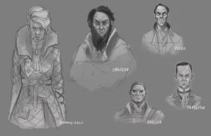 Dishonored Characters by gravity-zero