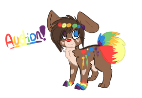 Rainbow Doge Auction[CLOSED] by lonely-galaxies