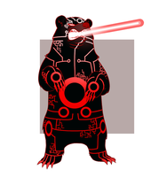 Laser Bears by AnArtistCalledRed
