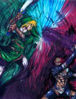 Link vs. Ganondorf by matsuyama-takeshi
